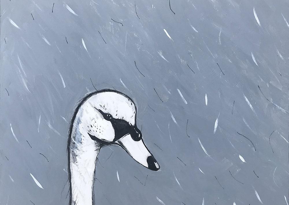 White Swan in The Rain 2 by Dan Nuttall